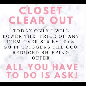 """Save today! """"Closet Clear Out"""" is back!"""